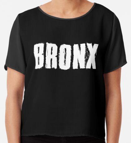 Bronx Trash Letters Chiffon Top