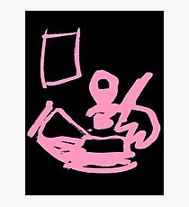 Diligent Artist (Pink) Photographic Print