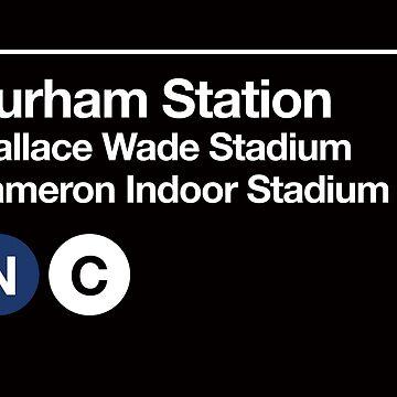 Durham, North Carolina (Duke) Sports Venue Subway Sign by phoneticwear