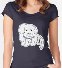 Mischievous Little Dog Women's Fitted Scoop T-Shirt