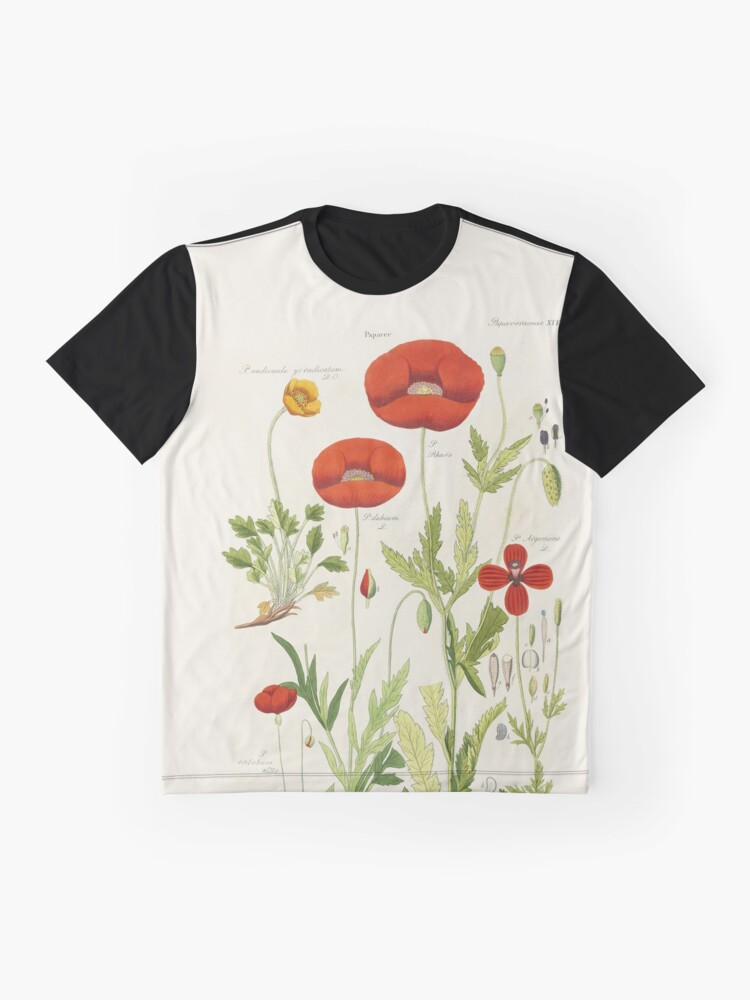 Alternate view of Botanical illustration: Poppy by David Dietrich – State Library Victoria Graphic T-Shirt