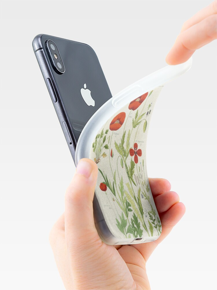 Alternate view of Botanical illustration: Poppy by David Dietrich – State Library Victoria iPhone Case & Cover