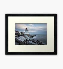 Castle Hill Lighthouse at Sunset Framed Print