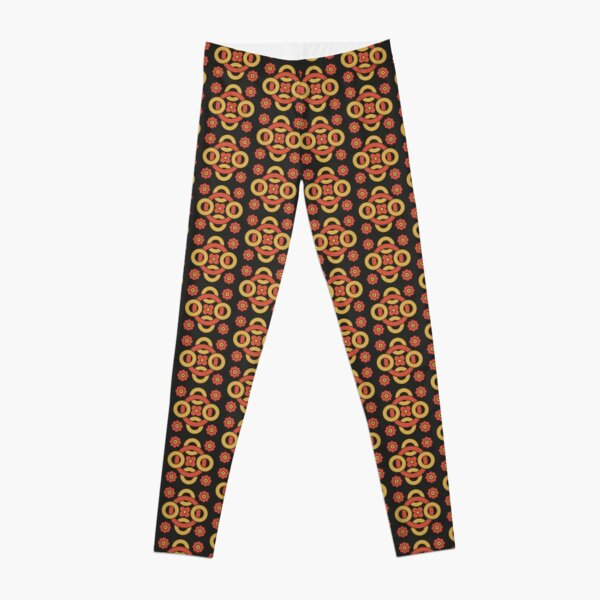 Circular vintage pattern by Christopher Dresser – State Library Victoria Leggings