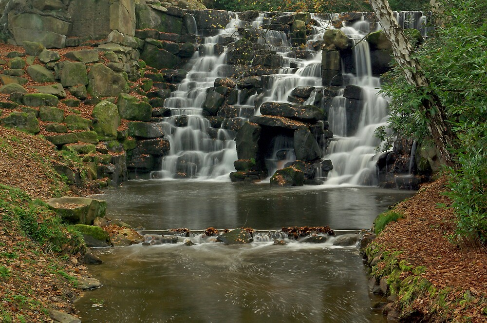 Virginia Water Cascade, Windsor Park by ludek