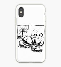 There's No Place Like Home - Window Dog (B&W) iPhone Case