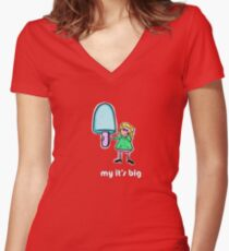 my its big Women's Fitted V-Neck T-Shirt
