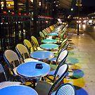Paris Blue Tables. by Andrew Ferguson