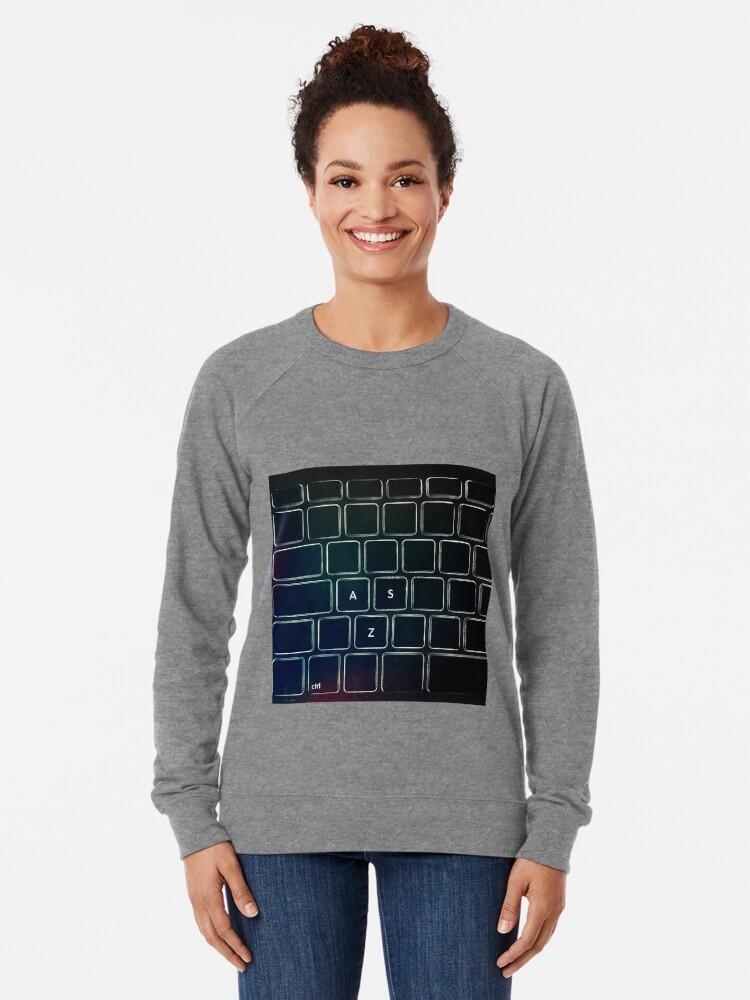Alternative Ansicht von SZA - STRG Tastatur Leichter Pullover