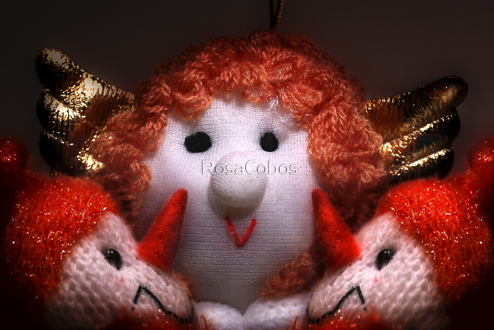 DollyAngel&Twins (A ChristmasCard) by RosaCobos