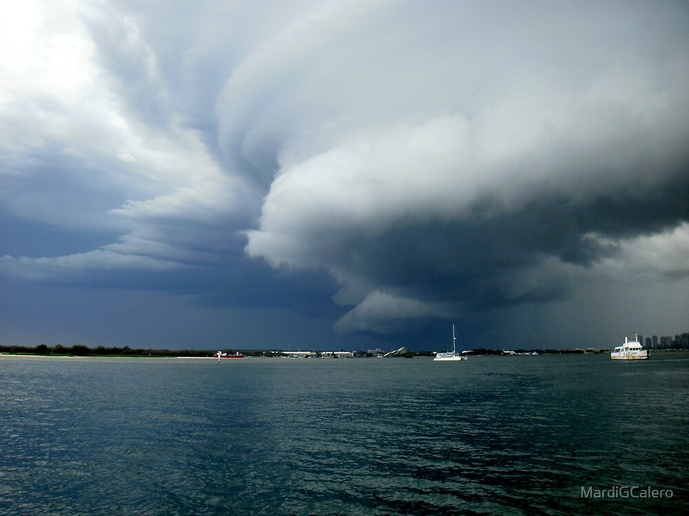 Big Storm coming up the Coast by MardiGCalero