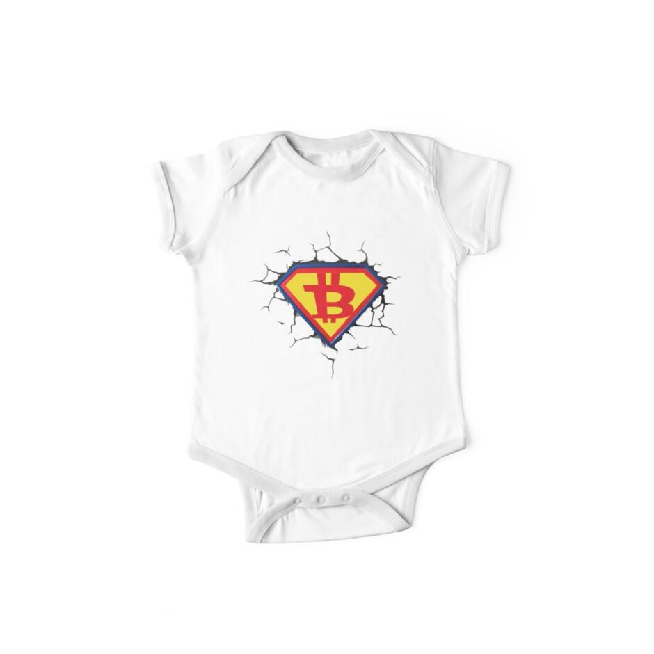 Weinlese-Bitcoin-Logo HODL Superheld-T-Shirt von KhushbooLohia
