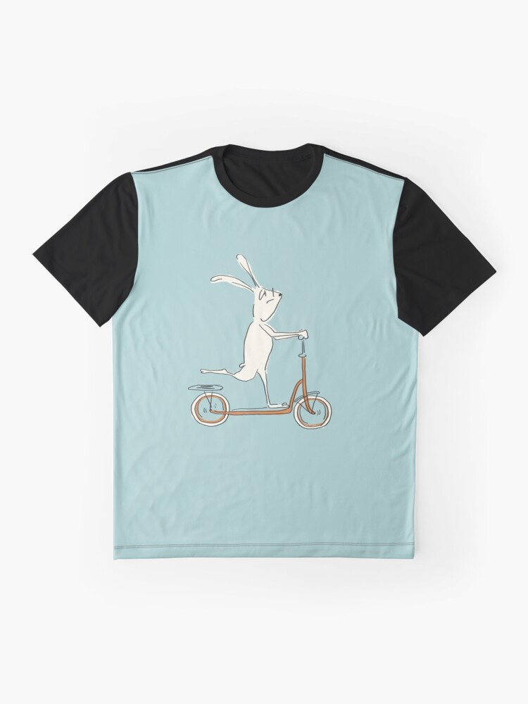 Alternate view of scooter - blue Graphic T-Shirt