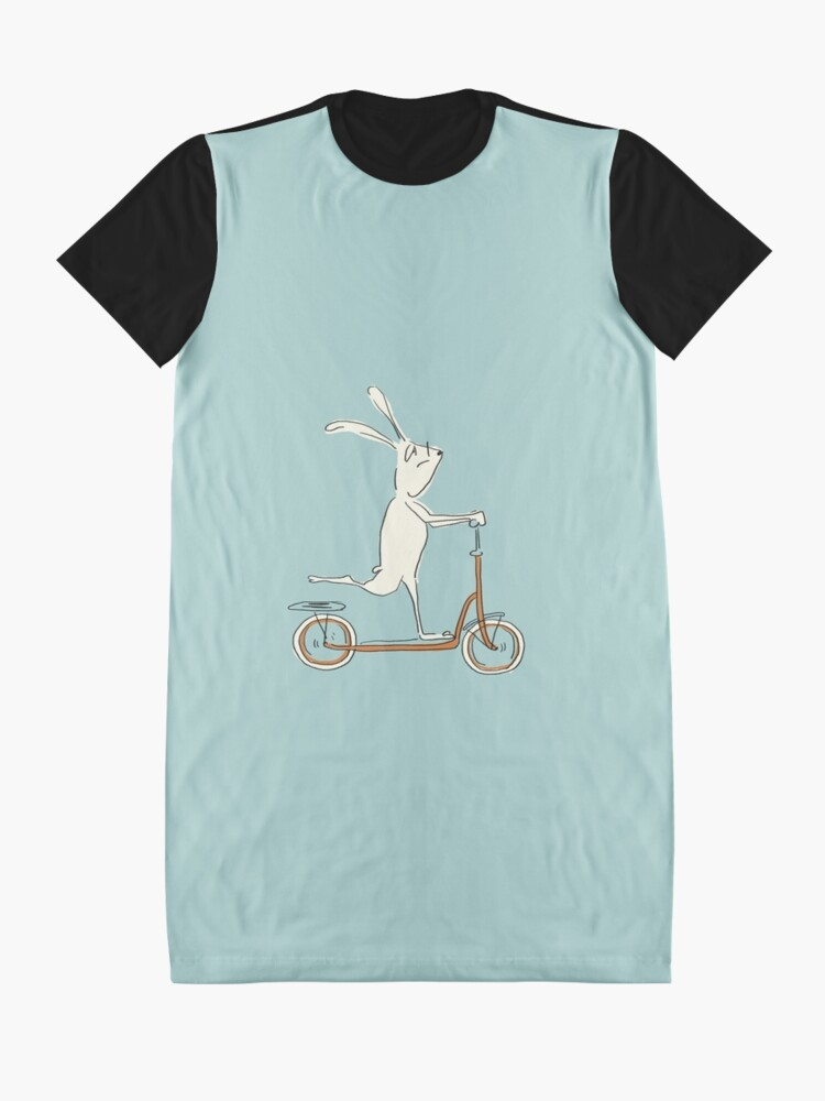 Alternate view of scooter - blue Graphic T-Shirt Dress