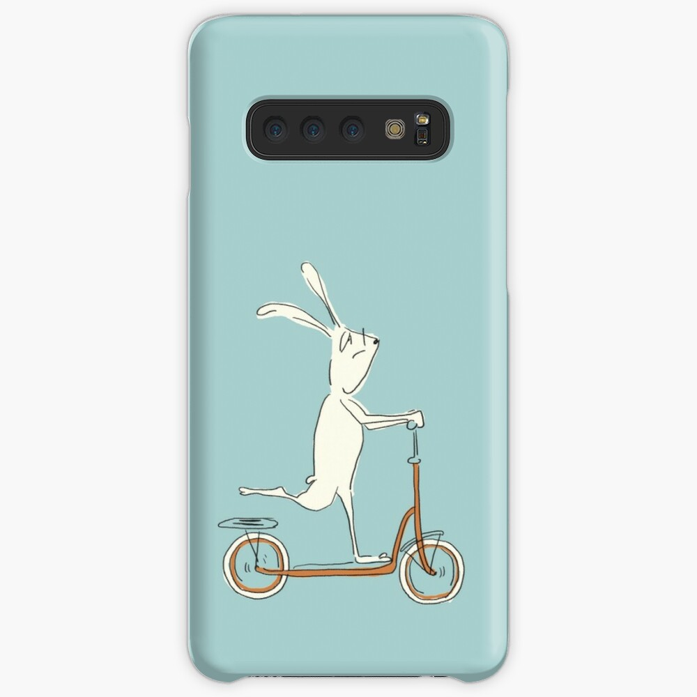 scooter - blue Case & Skin for Samsung Galaxy