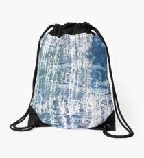 Blue green colorful watercolor picture Drawstring Bag