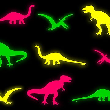 Neon Dinosaurs by christinaashman