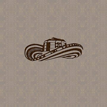 Colombian Sombrero Vueltiao (Coffee Bean Drawing) by Diego-t