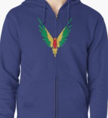 BIRD COLOUR LOGAN Zipped Hoodie