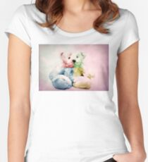Rainbow teddy Women's Fitted Scoop T-Shirt