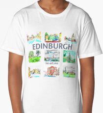 Edinburgh in a panel of 9 at full colour  Long T-Shirt