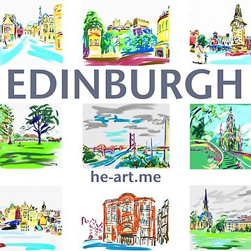 Edinburgh in a panel of 9 at full colour  by imogenart