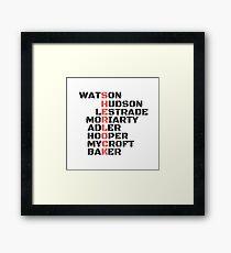 Sherlock Code Framed Print
