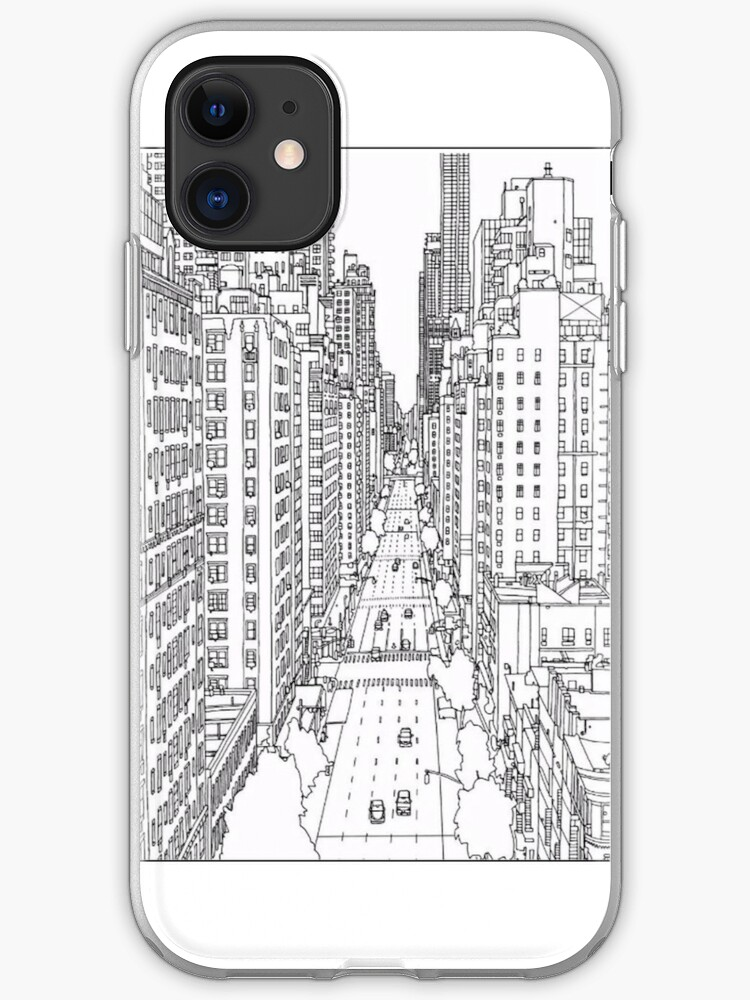 """""""adult coloring pages new york"""" iphone case  cover"""