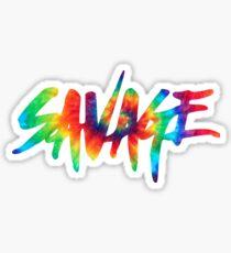 Savage Tie Dye - Text Sticker