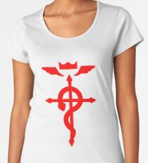 Fullmetal Alchemist Logo Red Premium Scoop T-Shirt