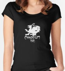 Chaosium Inc. Official T-Shirt (White Logo) Fitted Scoop T-Shirt