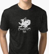 Chaosium Inc. Official T-Shirt (White Logo) Tri-blend T-Shirt
