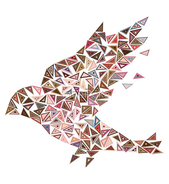 Mosaic bird by InnaPoka