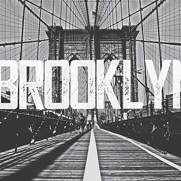 Brooklyn Bridge Typography Print by AndAndy
