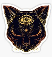 Egyptian Cat with Third Eye Open Sticker