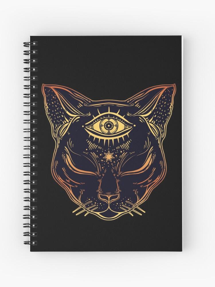 ägyptische Katze Mit Dem Geöffneten Dritten Auge Spiralblock