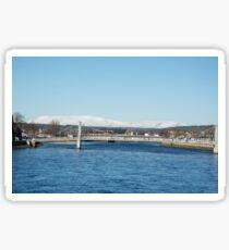 Ben Wyvis with Ness Bridge, Inverness Sticker
