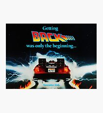 Back To The Future 2 Teaser Photographic Print