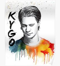 Kygo colorful portrait (unofficial fan-made) Poster