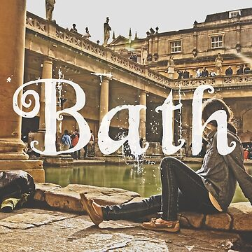 Bath II Typography Print by AndAndy