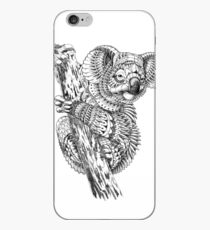 Adult coloring pages: Koala iPhone Case
