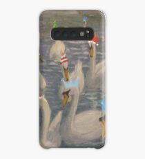 Nene Swans Christmas Party Case/Skin for Samsung Galaxy