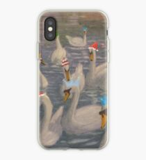 Nene Swans Christmas Party iPhone Case