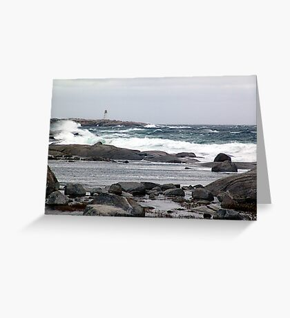 The Light and the Storm Greeting Card