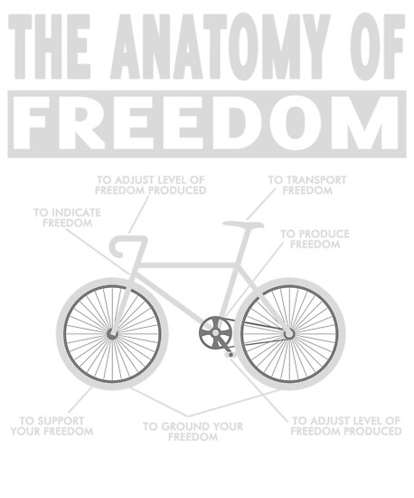The Anatomy of Freedom T-shirt Bicycle shirt\
