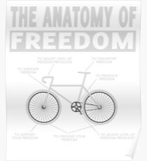 The Anatomy of Freedom T-shirt Bicycle shirt Poster