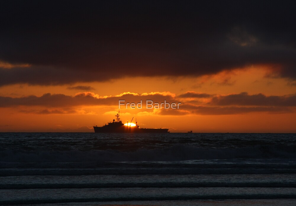 Sunsets on War by Fred Barber