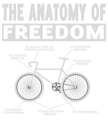 The anatomy of freedom bicycle T-shirt\