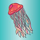 Cartoon Jellyfish from the Deep Blue Sea by Shelly Still