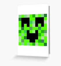 Minecraft greeting cards redbubble kawaii creeper greeting card m4hsunfo